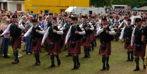 One of the many pipe bands.